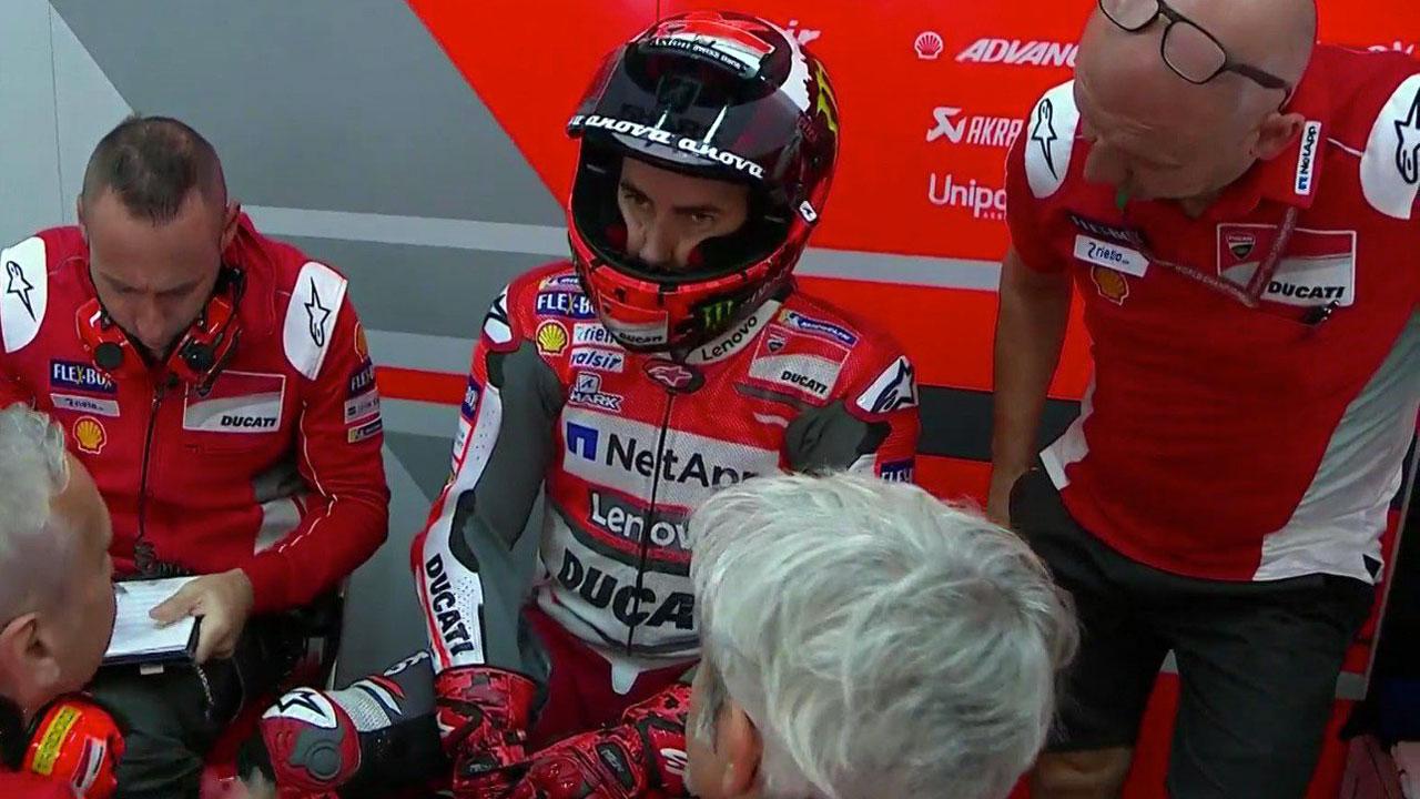 El dolor baja a Jorge Lorenzo de la moto