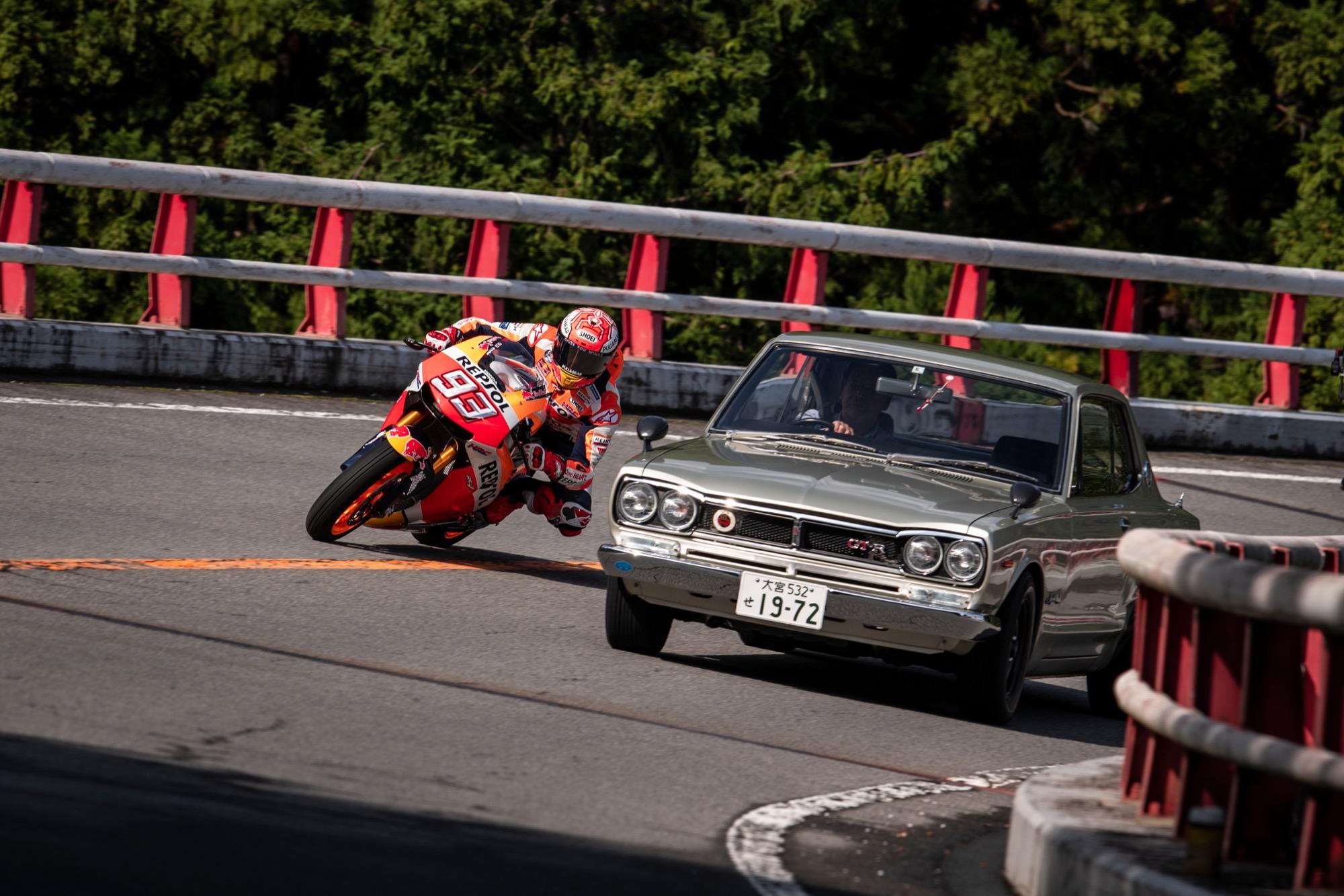 El épico vídeo de Marc Márquez en Hakone Turnpike