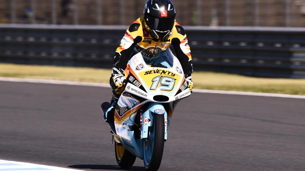 Gabri Rodrigo hace la pole de Moto3 en Japón con Marco Bezzecchi y Jorge Martín al acecho