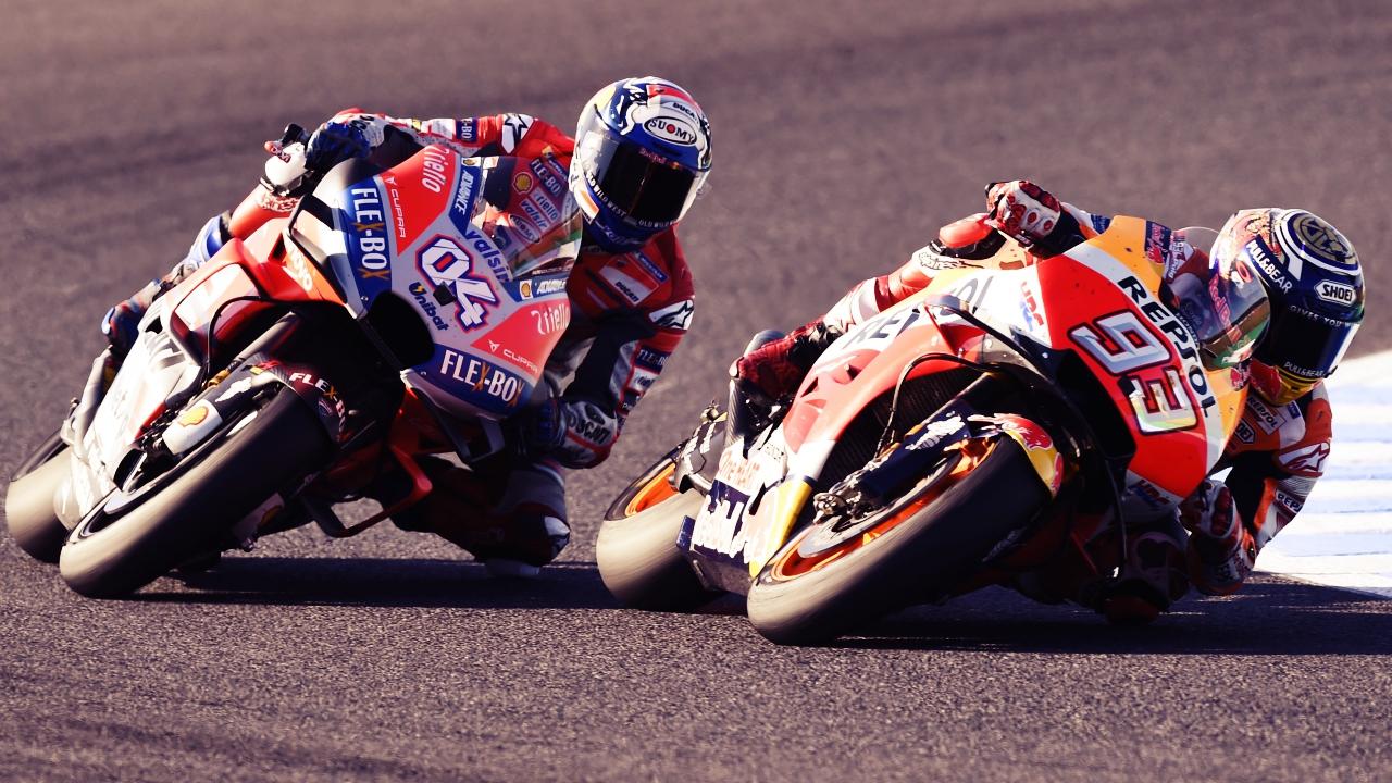 El límite que separa a Marc Márquez y Andrea Dovizioso