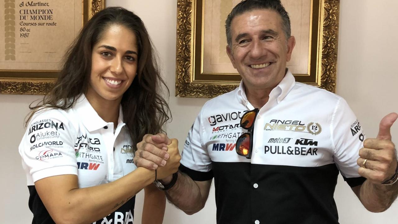 María Herrera correrá la Copa del Mundo de MotoE 2019 con el Ángel Nieto Team