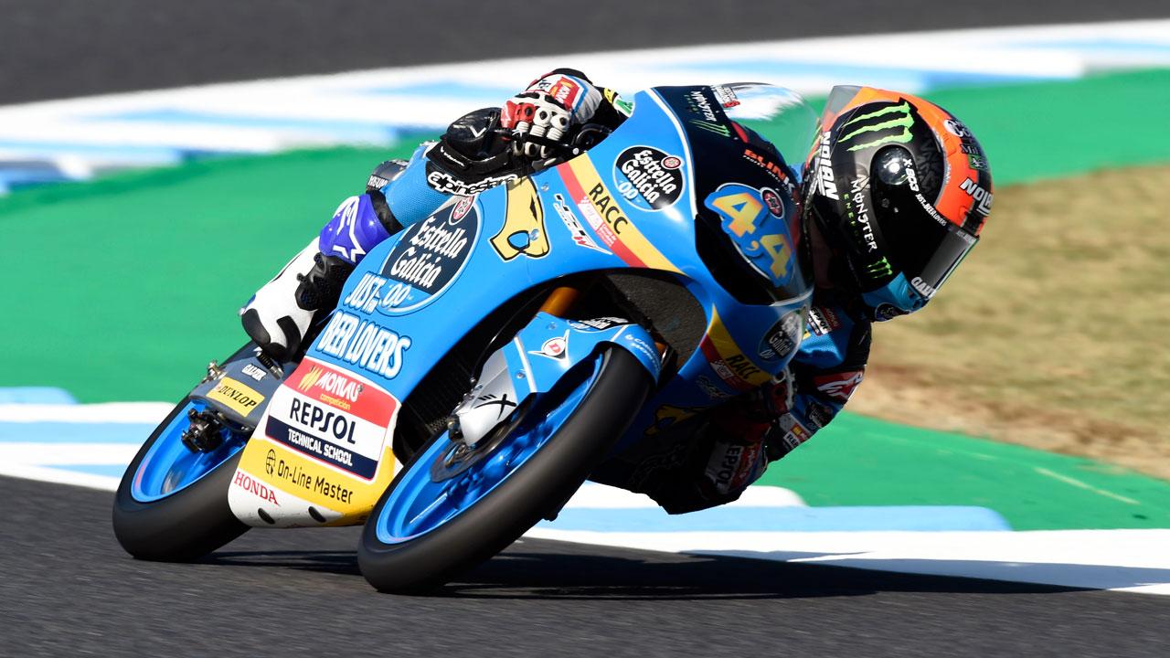Arón Canet lidera un accidentado viernes de Moto3 para los rivales de Jorge Martín