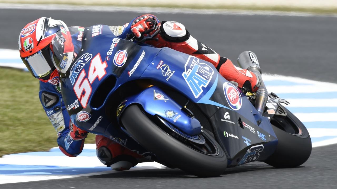 Mattia Pasini hace la pole de Moto2 en Australia en un mal día de los candidatos al título