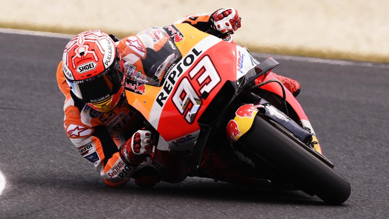 Marc Márquez se queda con la pole de MotoGP en Australia ante Maverick Viñales