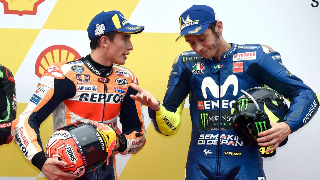 """Valentino Rossi. """"Con la Yamaha 2017 correr en mojado era una pesadilla"""""""