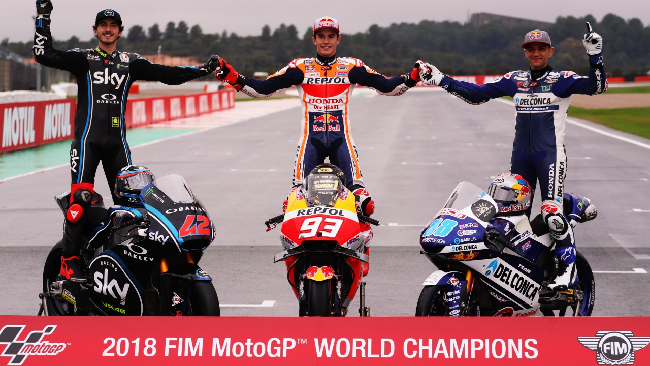 Clasificaciones finales MotoGP, Moto2 y Moto3 2018