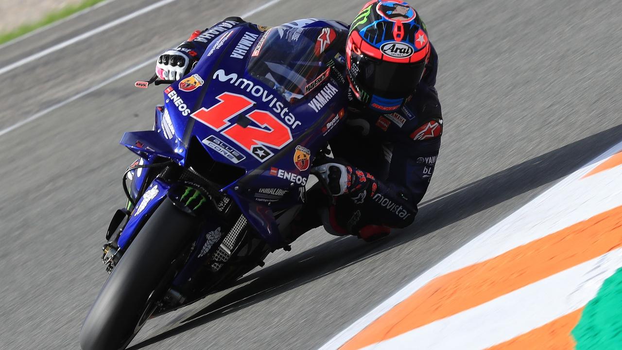 Maverick Viñales lidera el primer día de MotoGP 2019 ante Marc Márquez en Valencia
