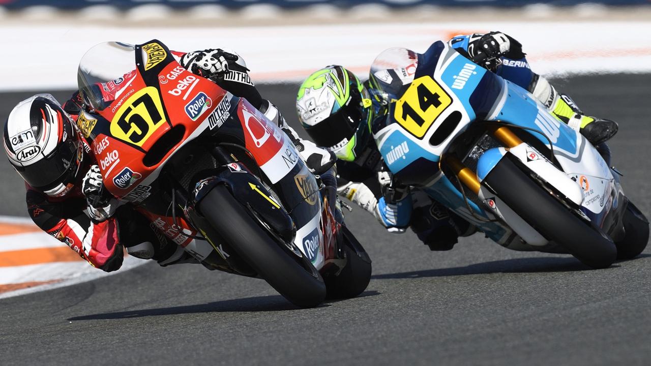 Edgar Pons despide el Europeo de Moto2 2018 batiendo a Héctor Garzó