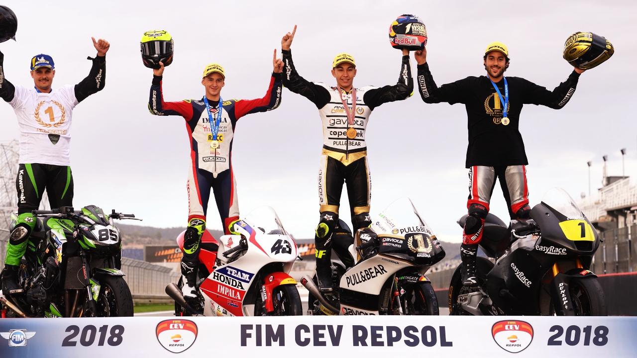 Clasificaciones finales 2018 FIM CEV, Red Bull Rookies Cup y Talent Cups