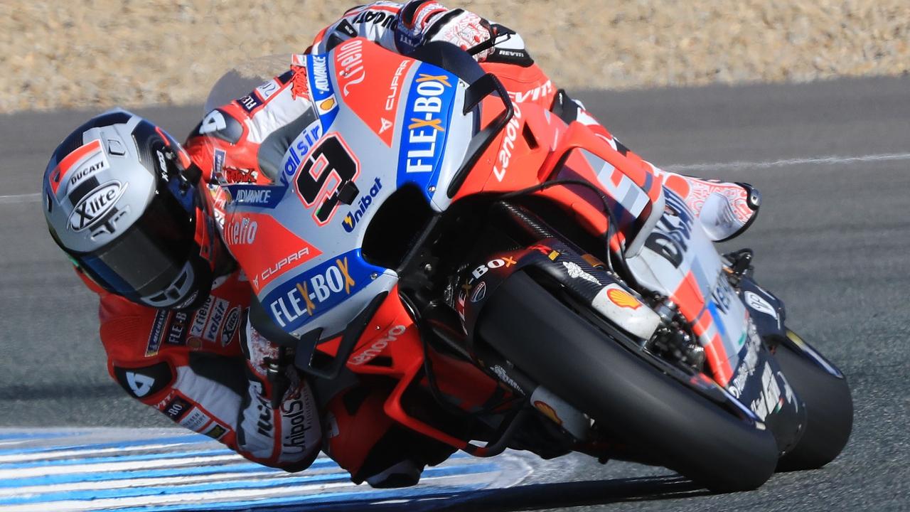 Danilo Petrucci y las Ducati lideran el primer día del test de MotoGP 2019 en Jerez