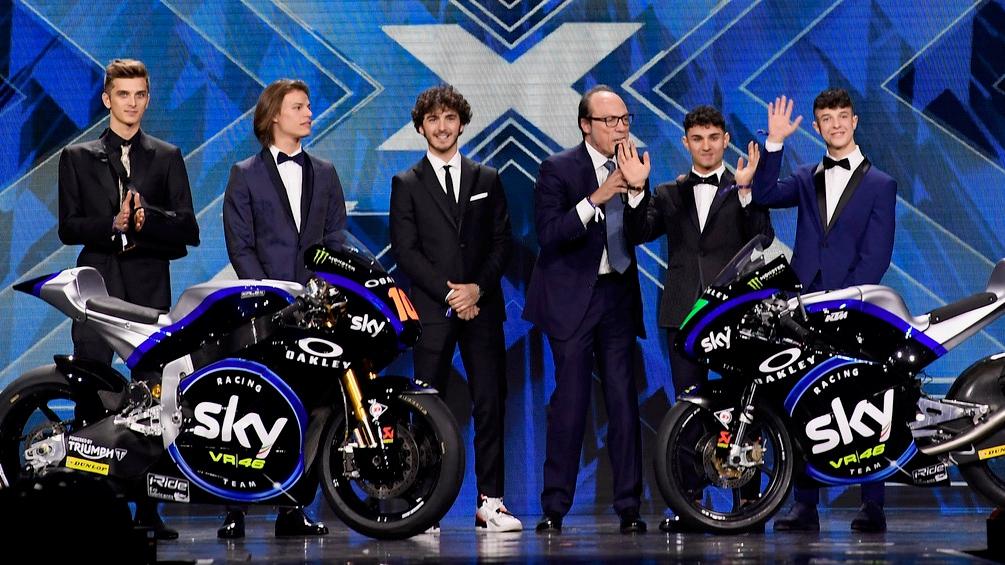 El Sky Racing Team VR46 enseña su Kalex Triumph Moto2 y su KTM Moto3 para 2019