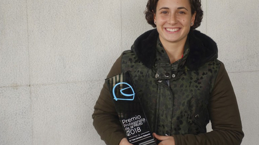Ana Carrasco, ganadora del premio 'Protagonista de la Moto' 2018