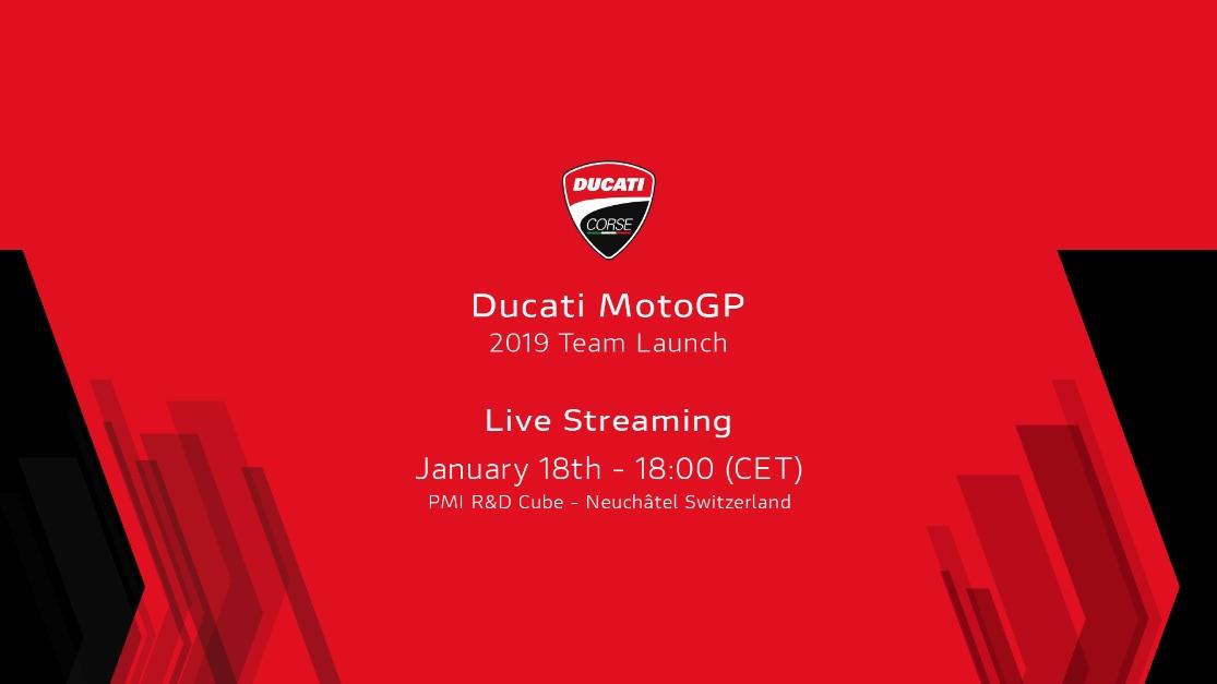 Presentación Ducati MotoGP 2019, en directo [finalizado]