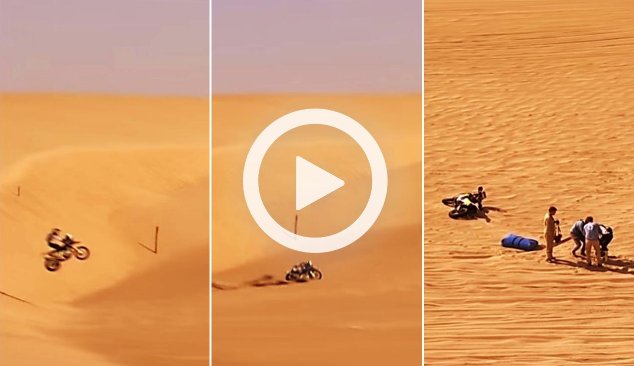 Vídeo: La escalofriante caída de Pablo Quintanilla que le bajó del podio del Dakar 2019