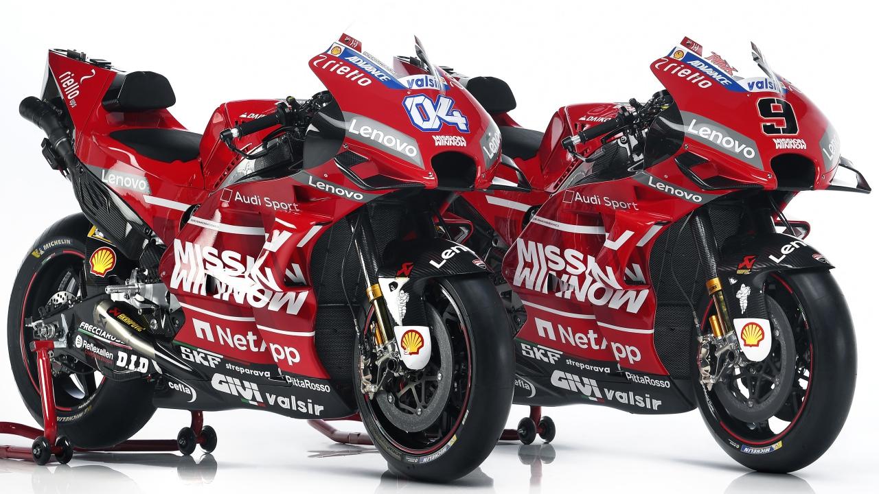 Ducati presenta la GP19 de Andrea Dovizioso y Danilo Petrucci para MotoGP 2019