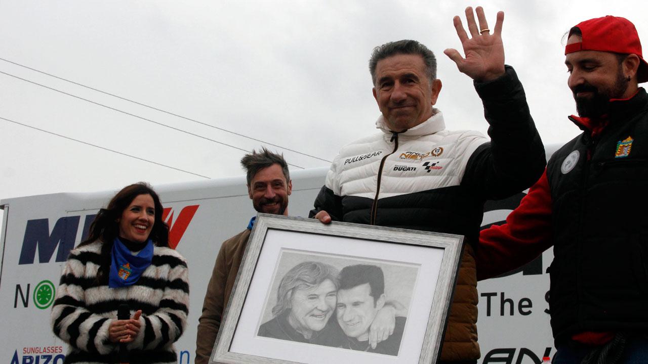 Homenaje motero de Alzira a Jorge Martínez Aspar