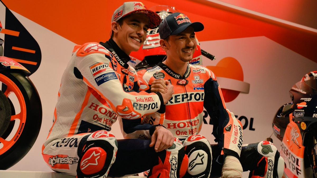 Honda presenta la RC213V para MotoGP 2019 con Marc Márquez y Jorge Lorenzo