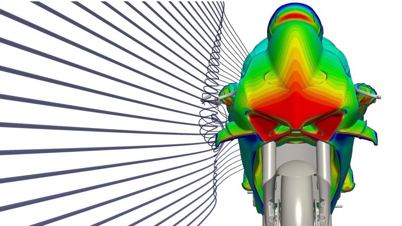 La aerodinámica de las MotoGP
