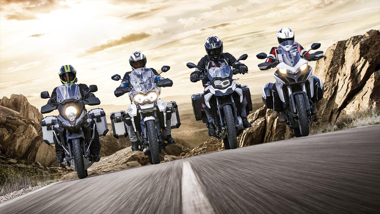 Comparativa Trail Medias: BMW F 750 GS, Ducati Multistrada 950, Suzuki V-Strom 650X, Triumph Tiger 800 XRX