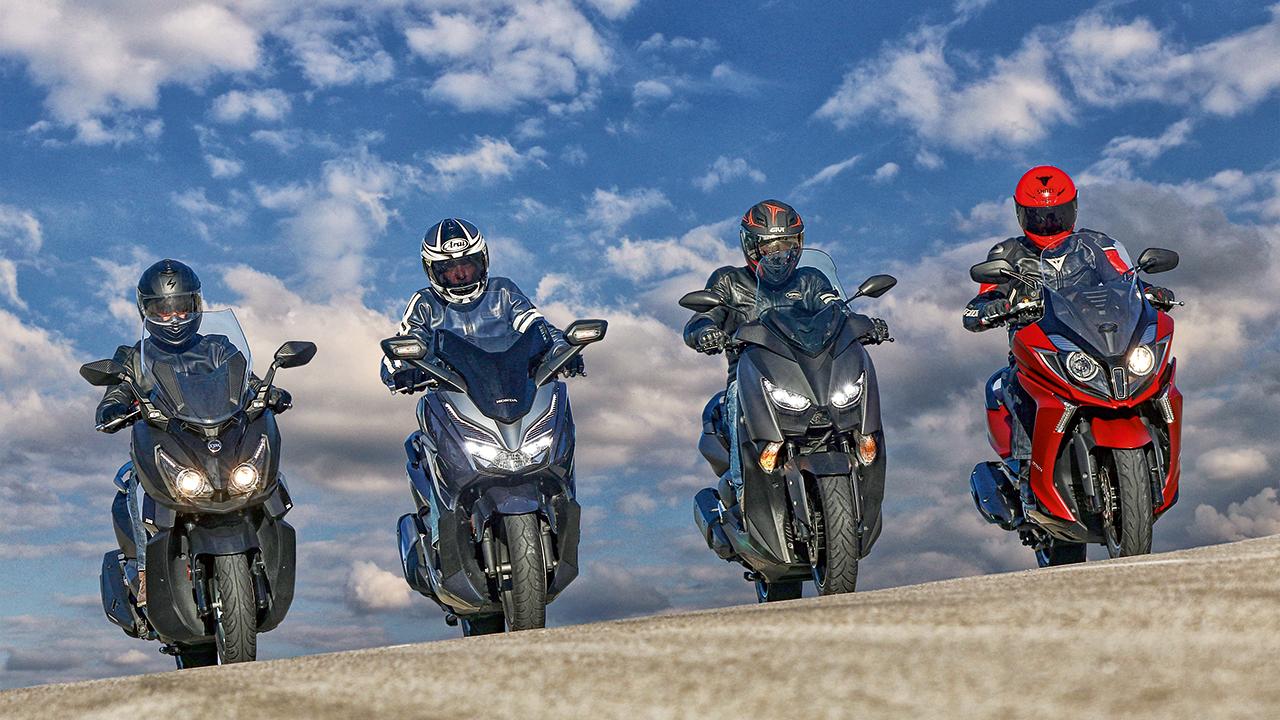 Comparativa Scooters 300: Honda Forza 300 vs Kymco Super Dink 350  vs SYM Cruisym 300i vs Yamaha XMAX 300