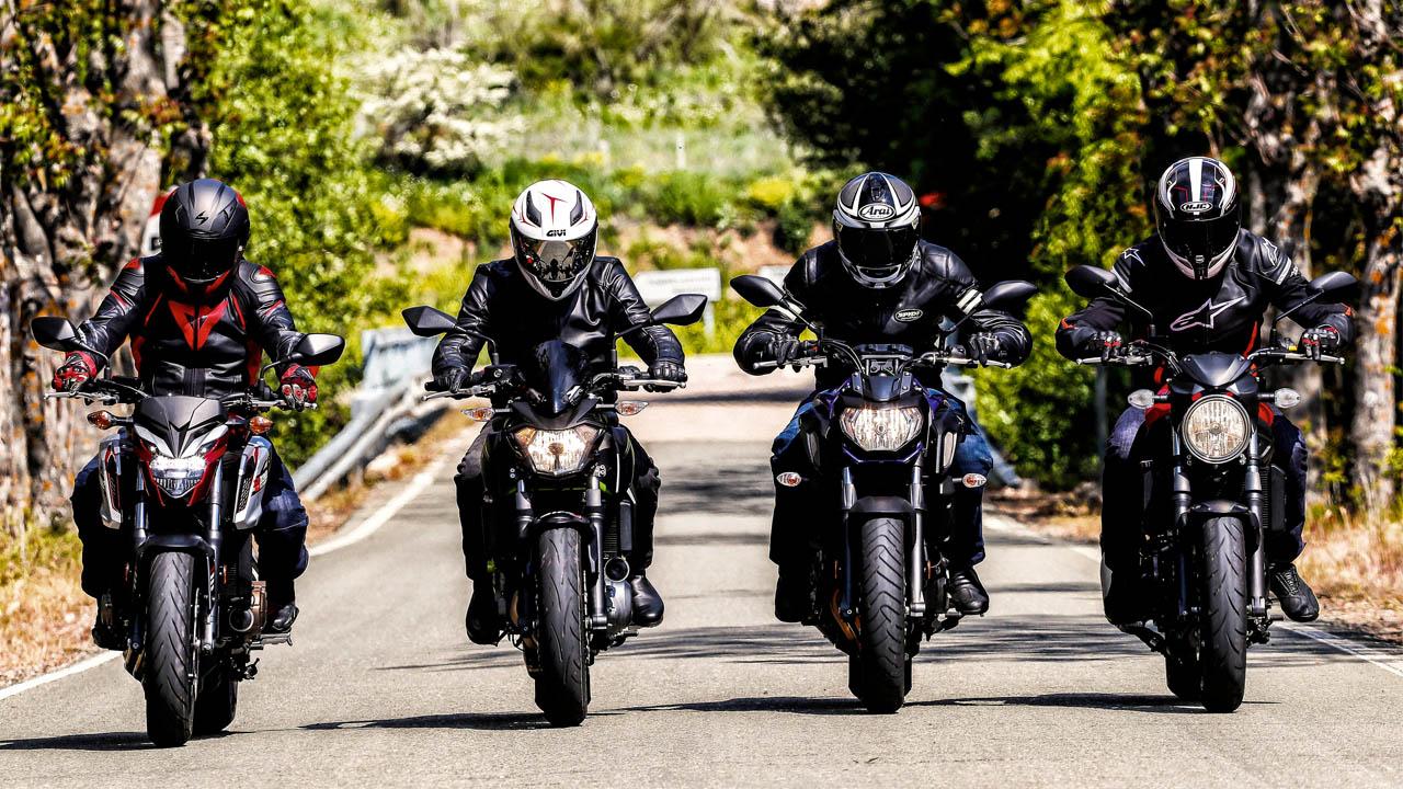 Comparativa Naked: Honda CB650F, Kawasaki Z650, Suzuki SV650, Yamaha MT-07