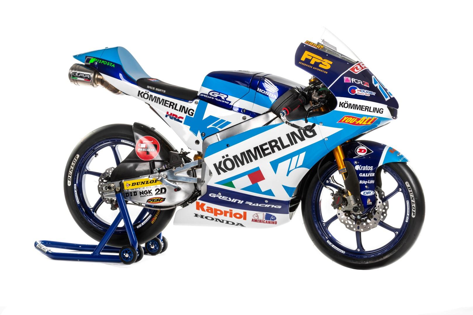Los nuevos colores del equipo Gresini de Moto3