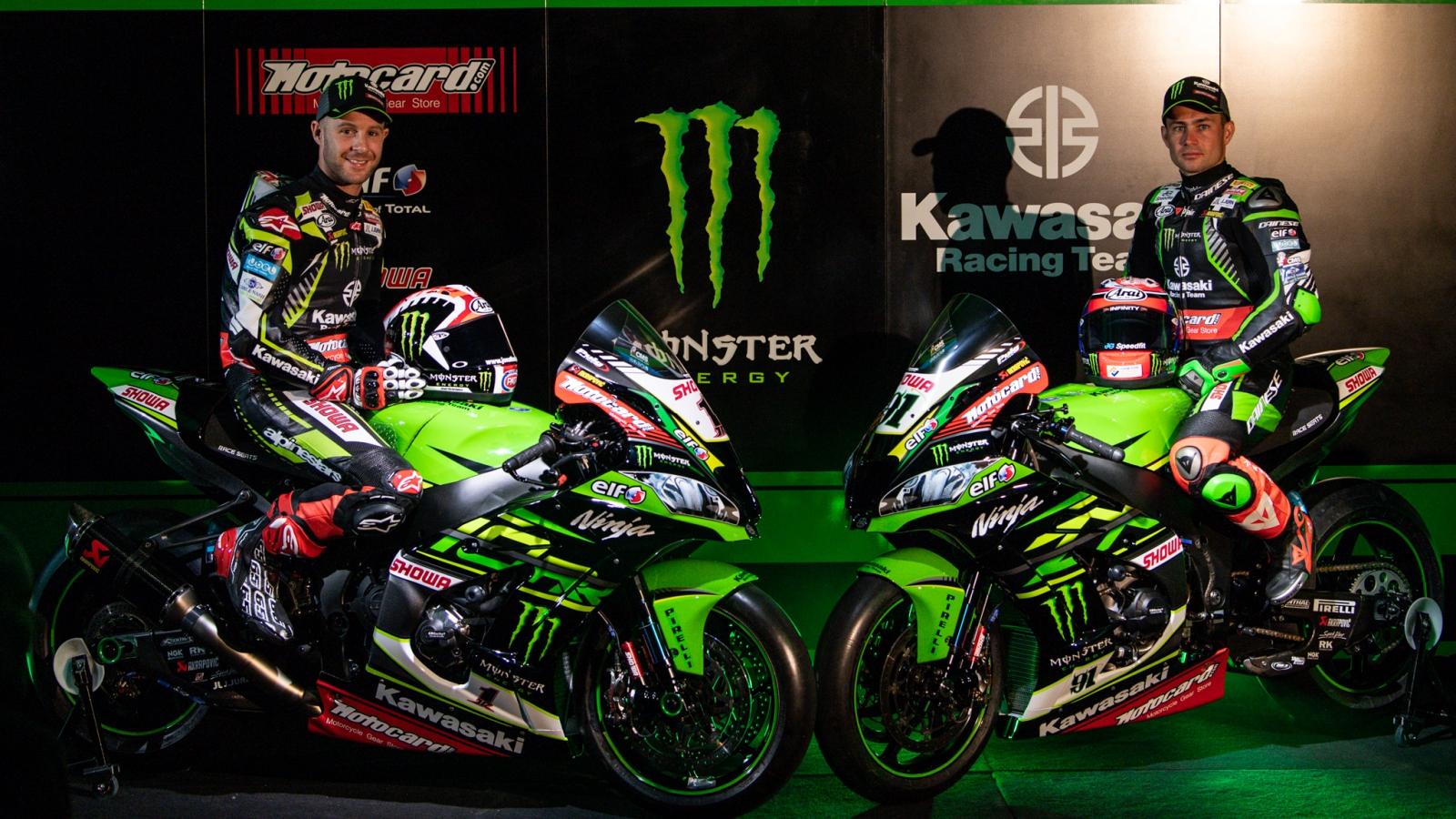 Jonathan Rea y Leon Haslam desvelan la Kawasaki ZX-10RR para Superbike 2019
