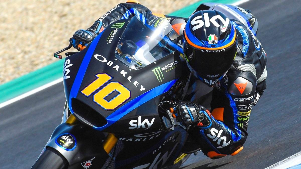 Luca Marini comanda el primer día de Moto2 2019 en Jerez seguido de Iker Lecuona
