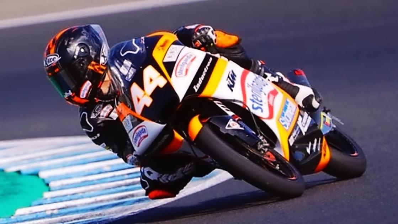 Arón Canet y Jaume Masiá lideran el segundo día de Moto3 2019 en Jerez