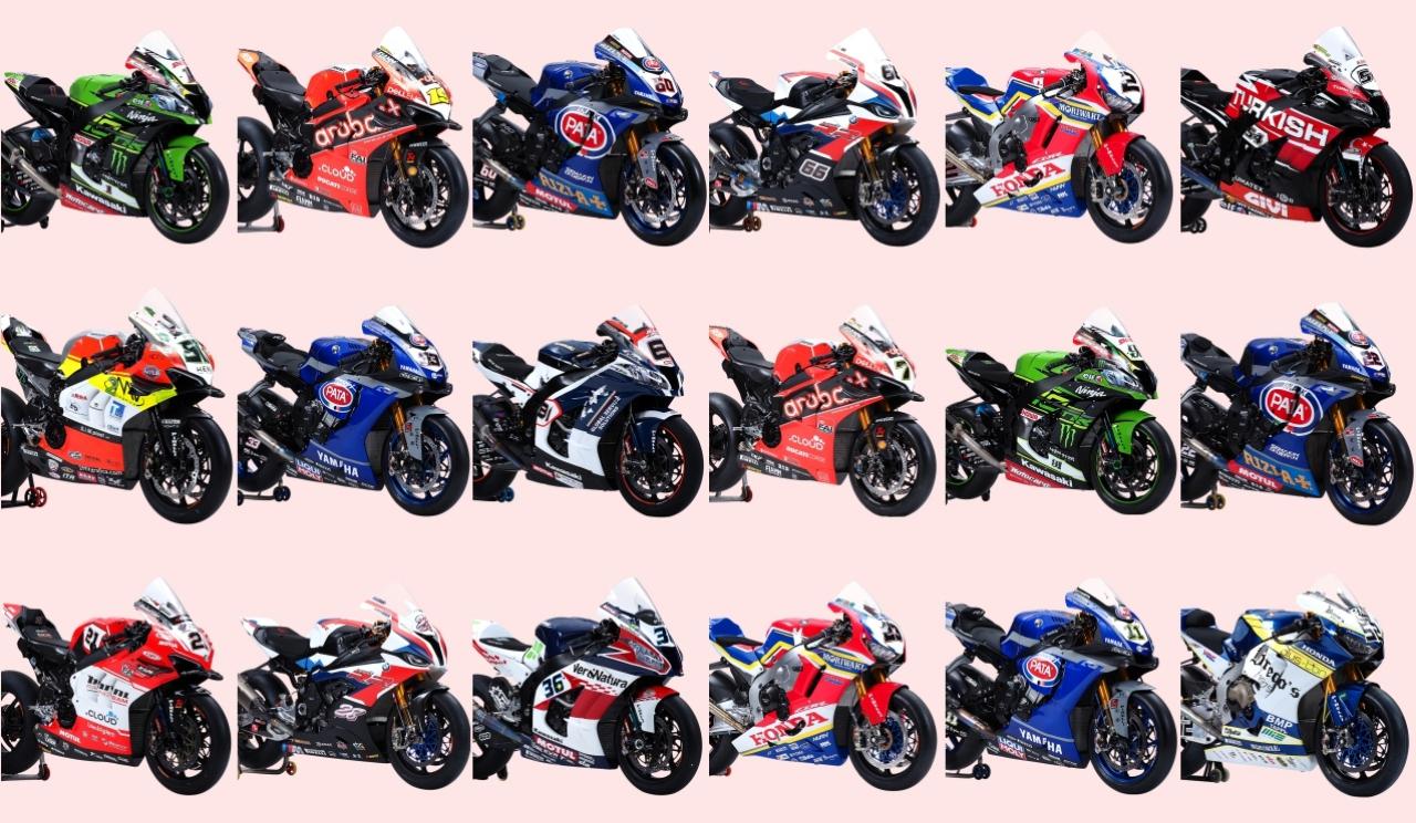 Los 18 pilotos del Mundial Superbike 2019
