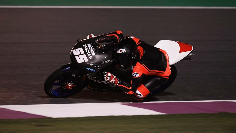 Romano Fenati lidera todas las sesiones el segundo día de test de Moto3 2019 en Qatar