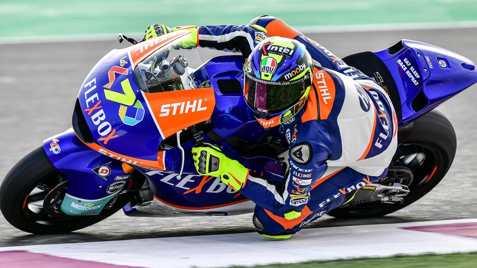 Lorenzo Baldassarri lidera los libres de Moto2 en Qatar con récord incluido