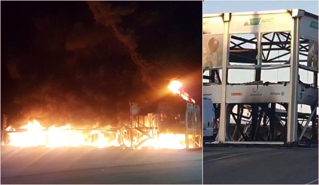 Incendio en las instalaciones de MotoE: calcinadas todas las motos y materiales