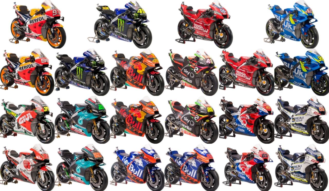 Los 22 pilotos de MotoGP 2019