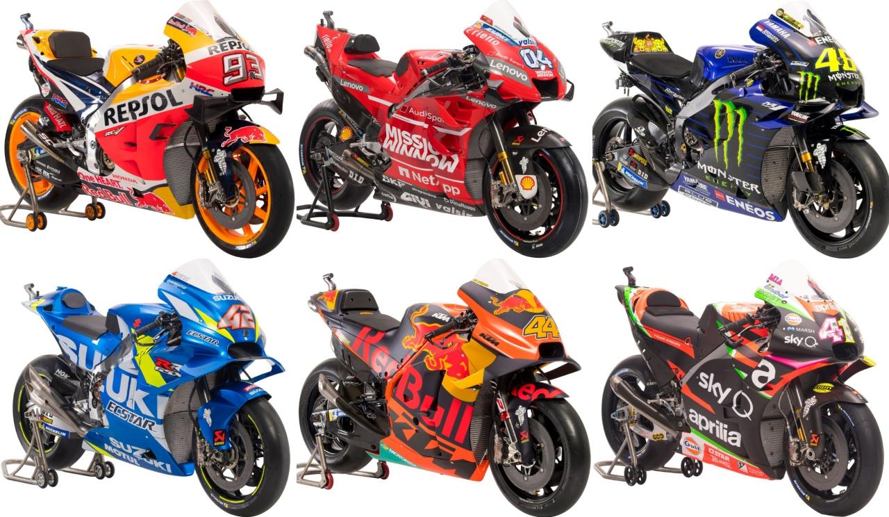 Las MotoGP 2019: Honda, Ducati, Yamaha, Suzuki, KTM y Aprilia