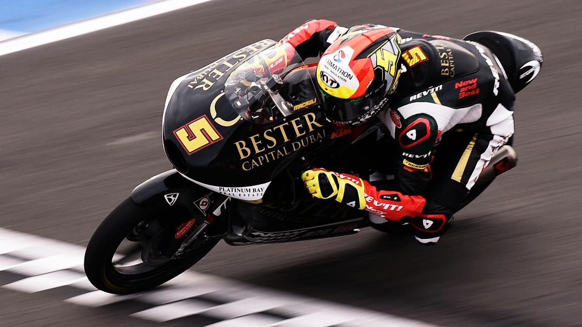 Jaume Masiá estrena su palmarés ganando en la locura de Moto3 en Argentina