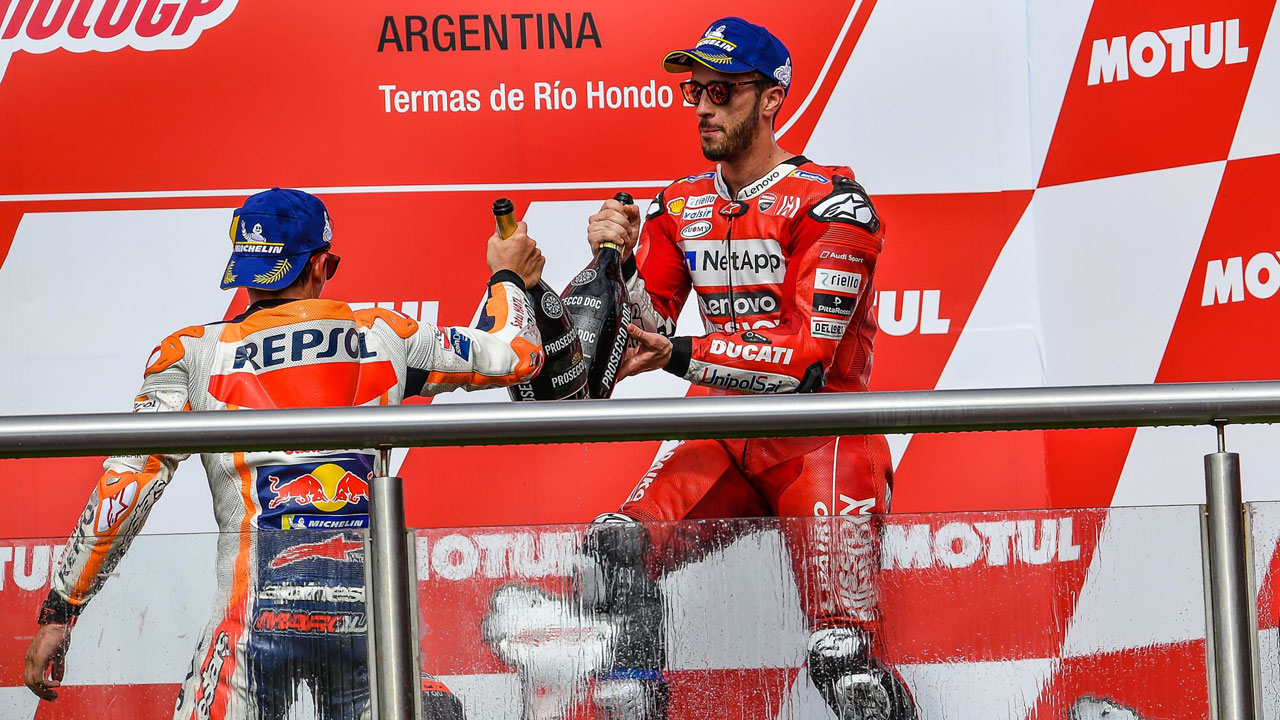 "Andrea Dovizioso: ""Márquez nos ha sacado diez segundos pero podían ser más"""