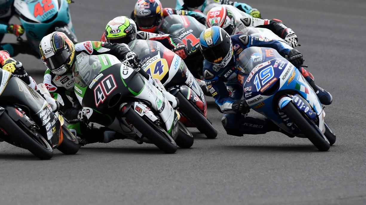 El podio de MotoGP, más Mundial que nunca