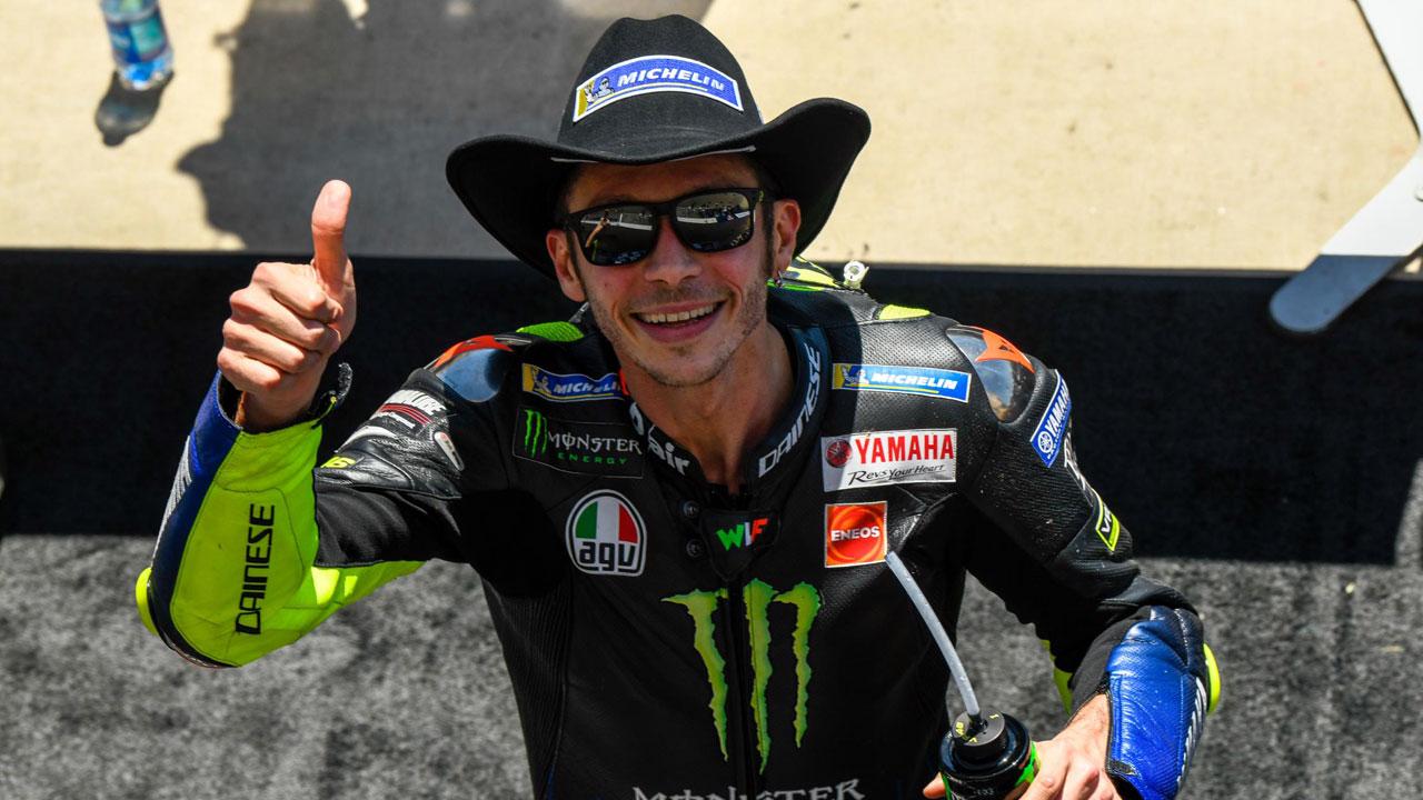 """Valentino Rossi: """"Cuando vi caer a Márquez pensé que era un buen día para ganar"""""""