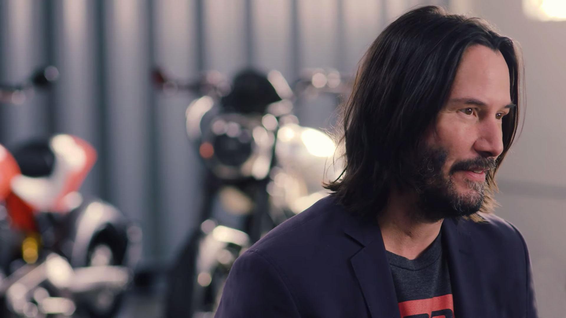 """Keanu Reeves: """"Si no voy en moto… no es bueno para mi salud"""""""
