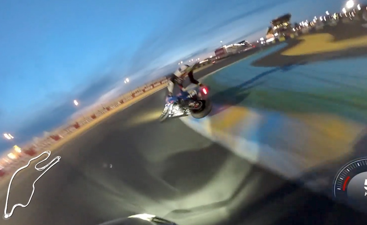 El espectáculo de Le Mans nocturno con Niccolò Canepa