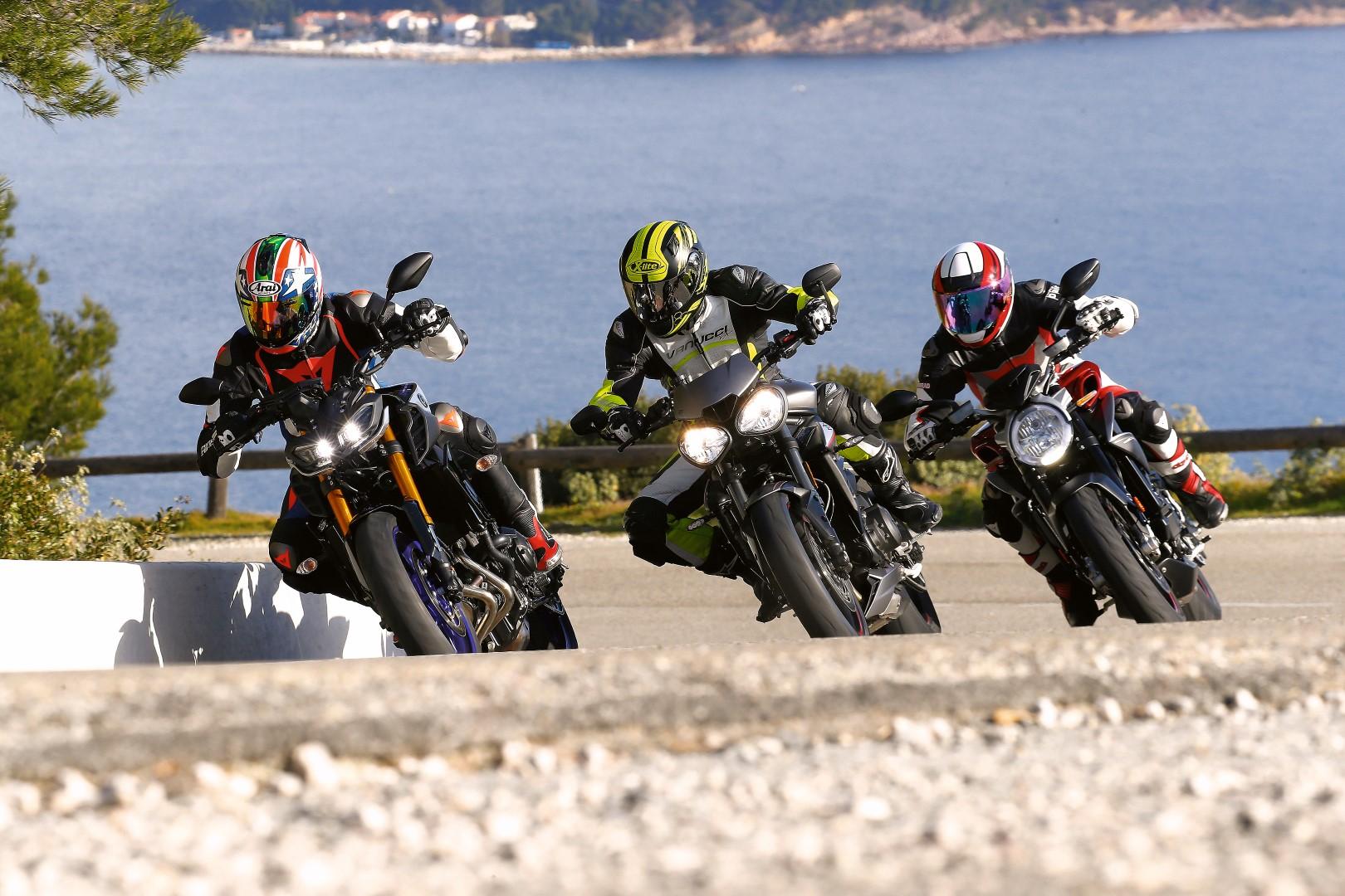 Comparativa tricilíndricas de lujo: MV Agusta Brutale 800 RR, Triumph Street Triple RS y Yamaha MT-09 SP