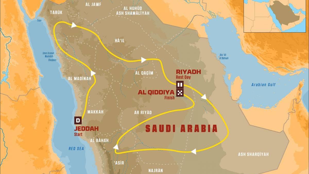 El Dakar 2020 ya tiene recorrido: 12 etapas de desierto y navegación en Arabia Saudí