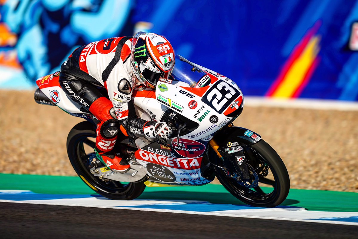 Victoria de Niccolò Antonelli en Jerez en una movida carrera de Moto3