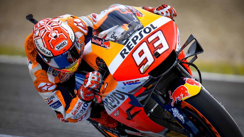 Marc Márquez lidera el triplete español de MotoGP en Jerez