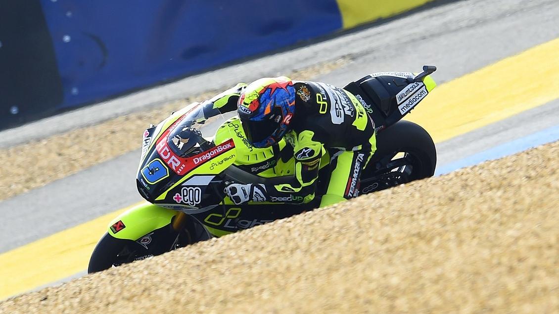 Jorge Navarro hace la pole de Moto2 en Le Mans con Álex Márquez tercero