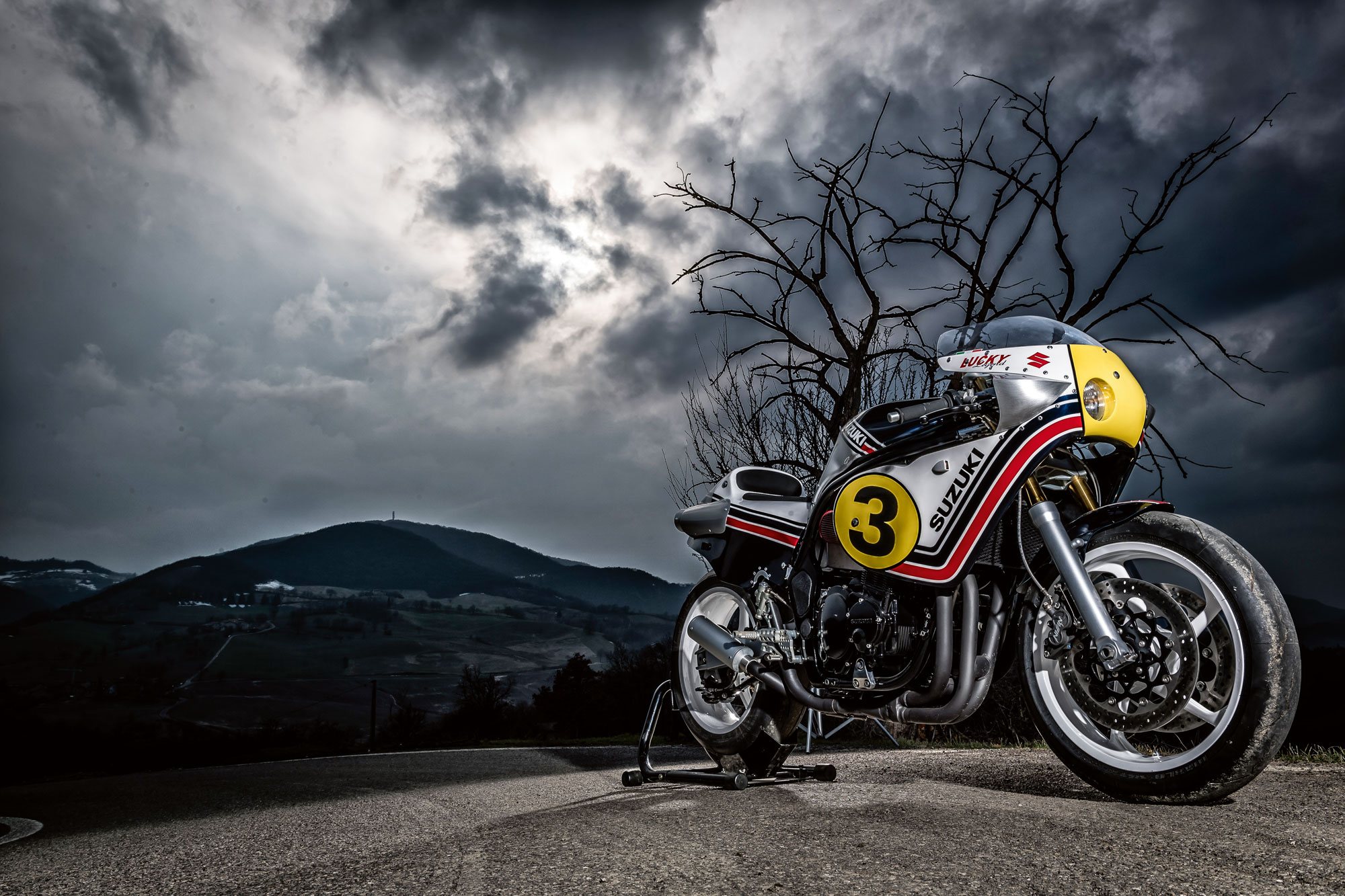 Suzuki LUCKY X, una irreconocible Bandit para recordar a Lucchinelli