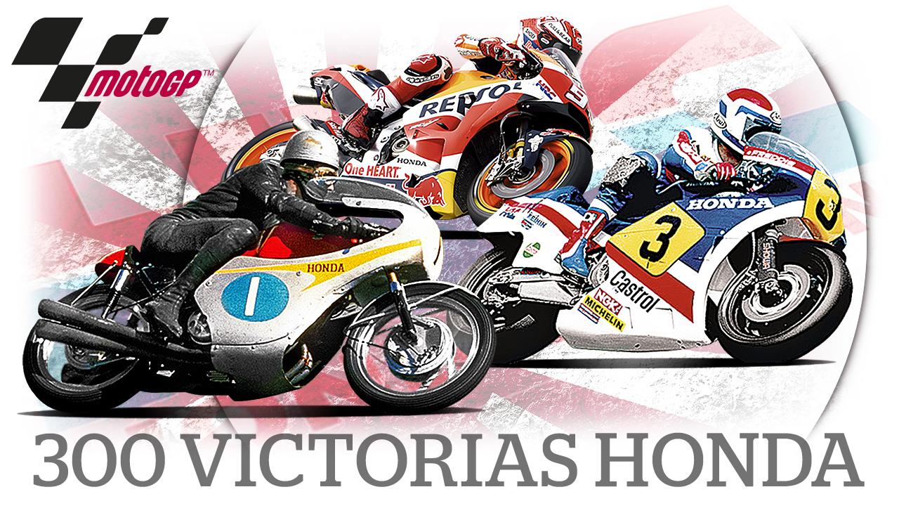 300 victorias de Honda en 500cc y MotoGP: motos, pilotos, años y circuitos