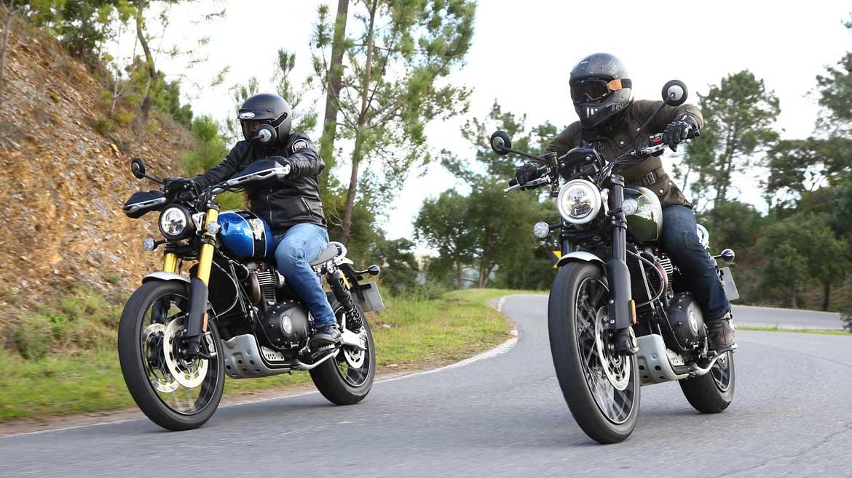 Prueba las nuevas Triumph  Scrambler 1200 XC y XE en Ávila