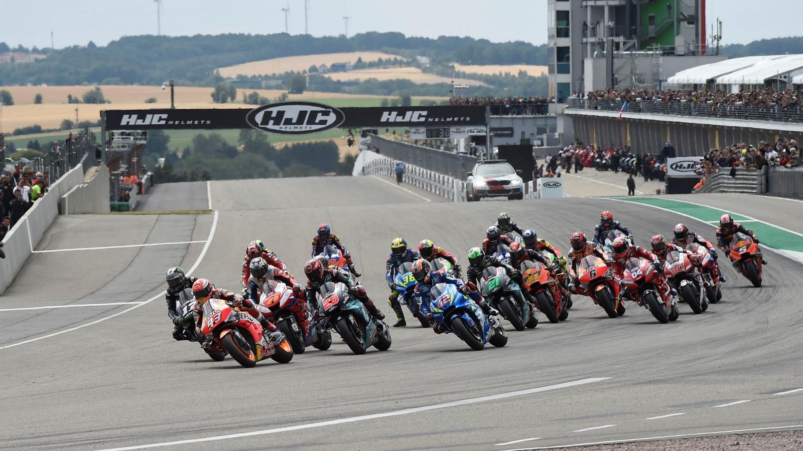 Píldoras MotoGP Alemania 2019: Fuente celeste, la chapa, dos frenadas y un chispazo